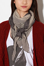 Staring At Stars Woven Tulle Double Layer Oblong Scarf