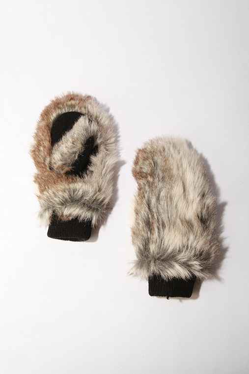 UrbanOutfitters.com > Deena & Ozzy Faux Fur Mitten :  fuzzy deena amp ozzy faux fur mitten gloves mittens