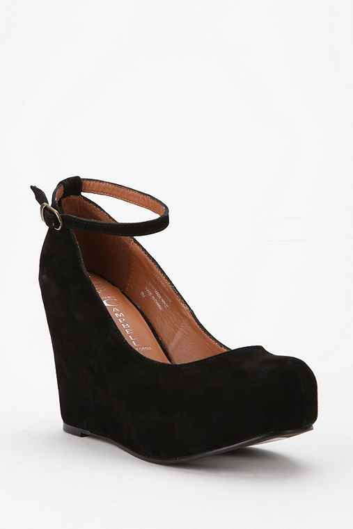 Jeffrey Campbell Suede Platform Wedge Heel :  platform wrapped suede wedges