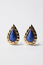 Enamel Raindrop Post Earring