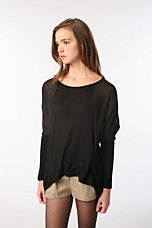 Sparkle & Fade Sheer Sleeve Oversized Top