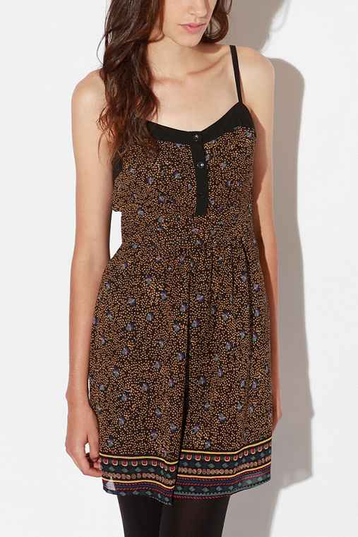 Staring at Stars Pintuck Chiffon Dress