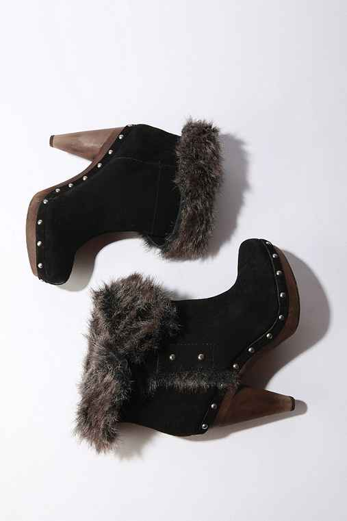 Seychelles Fur Boot :  suede studded stacked heels faux fur
