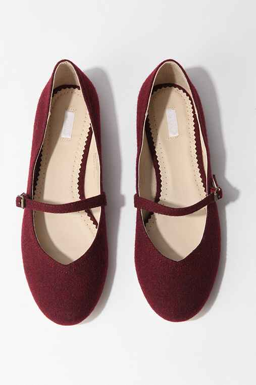 Burgundy Red Flats Shoes