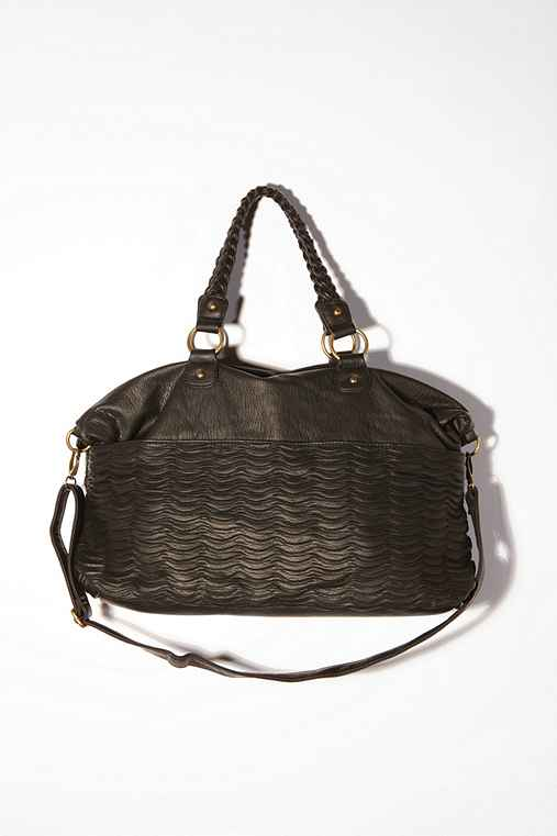 Deux Lux Wave Pleated Satchel