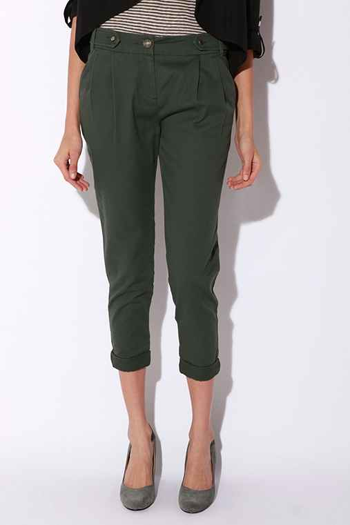 Silence & Noise Pleated Ankle Roll Pant
