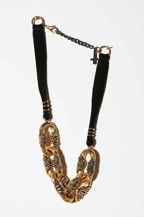 Chrishabana Oversized Gold Chain Necklace :  necklace chain chrishabana urban outfitters