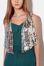 Mirror/Dash Sequin Vest
