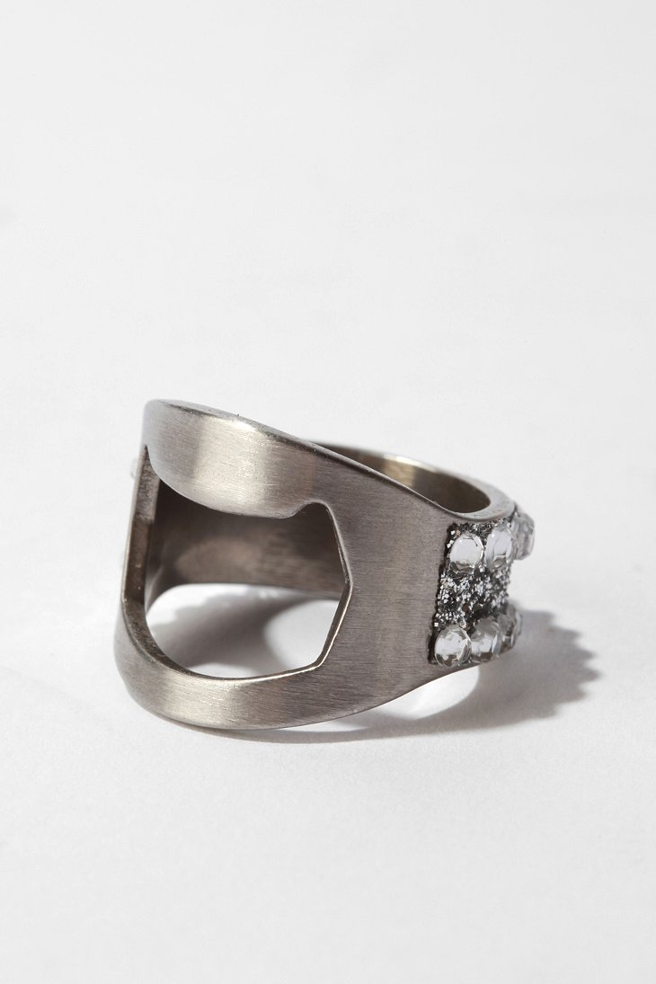 bling bottle opener ring urban outfitters. Black Bedroom Furniture Sets. Home Design Ideas
