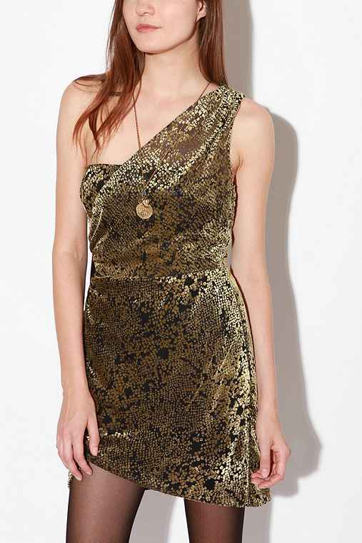 Silence & Noise Golden Ring Dress
