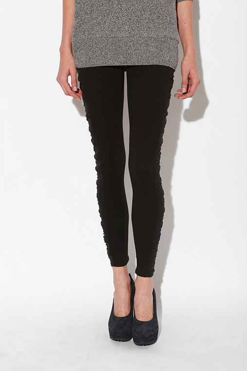 Silence & Noise - Pleated Mesh Legging :  silence amp noise silence amp noise pleasted mesh legging leggings urban outfitters