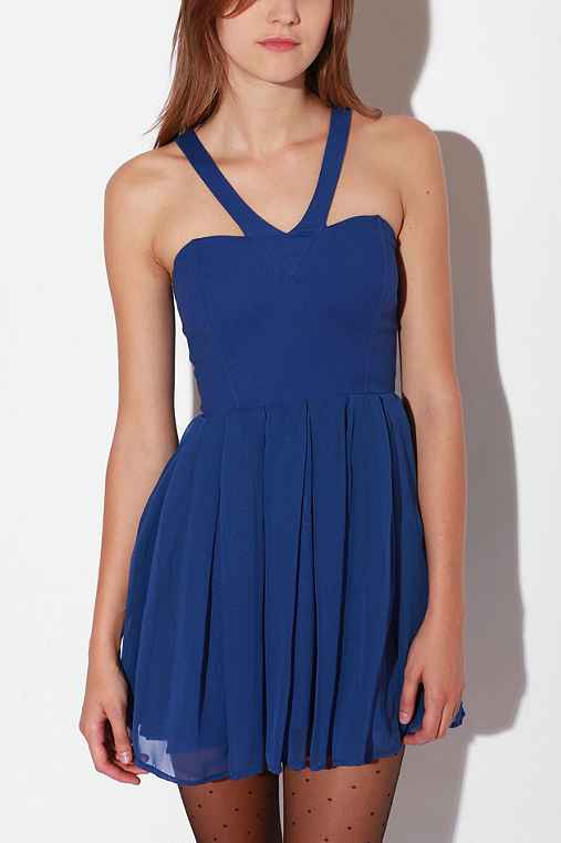 Angelina V-Neck Dress :  swingy tank straps sweetheart neckline layered