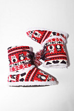 Red Owl Sweater Lace-Up Bootie Slipper