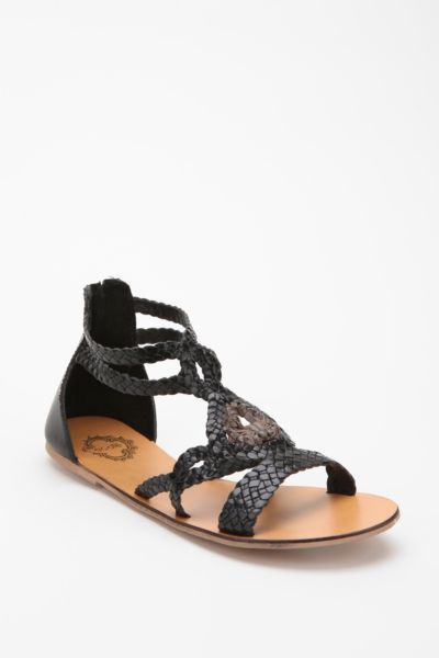 Ecote Leather Macramé Gladiator Sandal