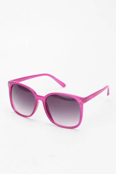 Betsey Johnson Oversized Round Sunglasses