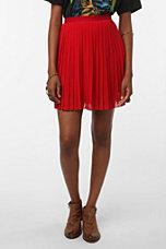 Sparkle & Fade Pleated Chiffon Miniskirt