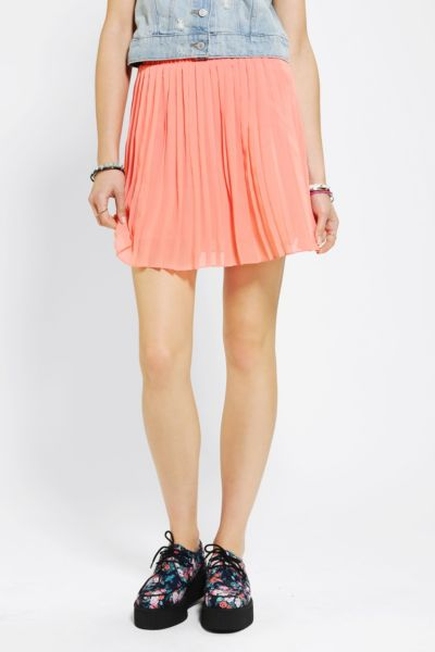 Sparkle & Fade Pleated Chiffon Mini Skirt
