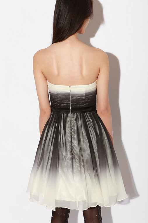 Betsey Johnson Ombre Chiffon Strapless Dress