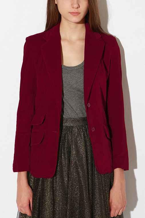 Urban Renewal - Vintage Velvet Blazer :  jacket urban renewal vintage velvet blazer urban renewal blazer urban renewal