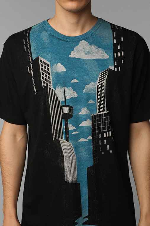 UrbanOutfitters.com > Journey To The City Tee :  tee shirt city canoe cityscape
