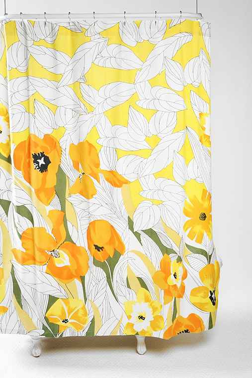 Falling Daffodils Shower Curtain