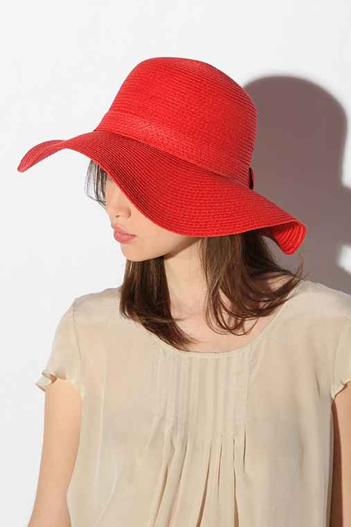 Pins and Needles - Basic Straw Floppy Hat :  pins and needles basic straw floppy hat accessory straw hat accessories