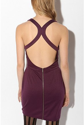 Silence & Noise - Open-Back Ponte Dress :  silence amp noise mini dress silence amp noise open back ponte dress dresses