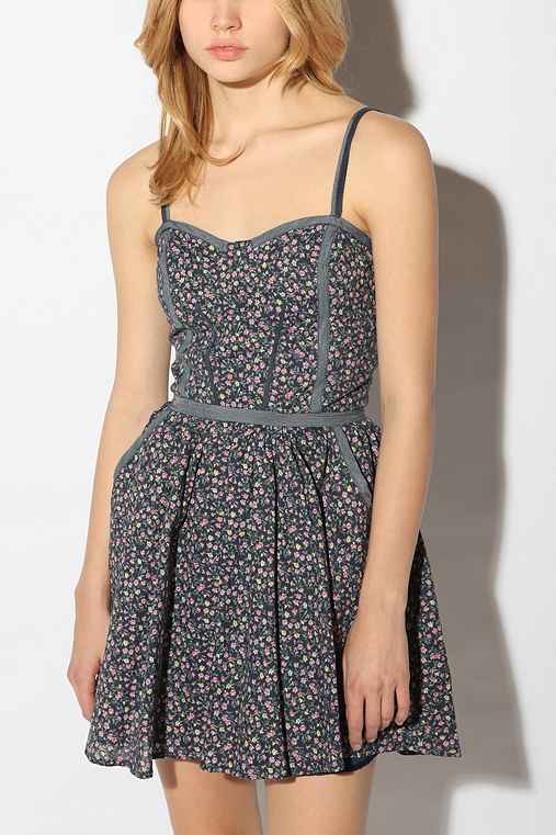 Lucca Couture Cotton Ditsy Piped Dress from urbanoutfitters.com