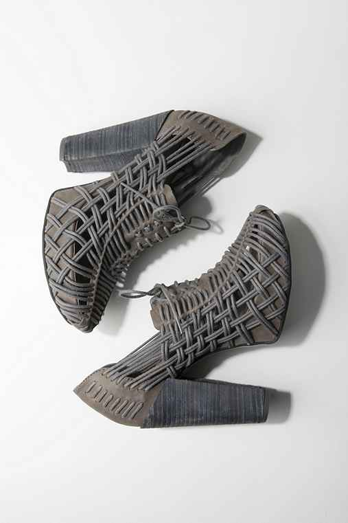 UrbanOutfitters.com > Huarache Heel by Miista  :  rounded toe shoes weave grey