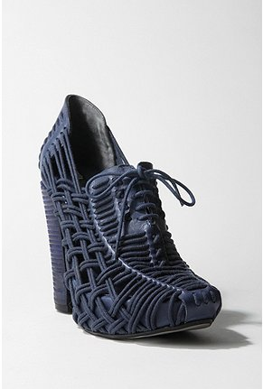 Miista Huarache Heel :  blue urban outfitters shoe of the week cool