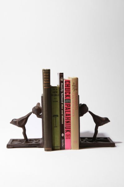 Bird and Lattice Bookend - Set of 2