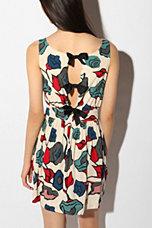 Cooperative Printed Bow-Tieback Dress