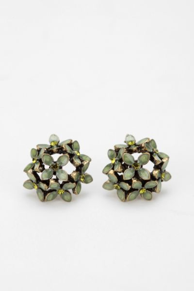 Flower Cluster Post Earring