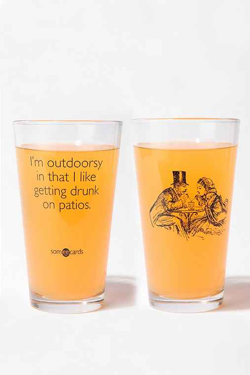Someecards I'm Outdoorsy Pint Glass