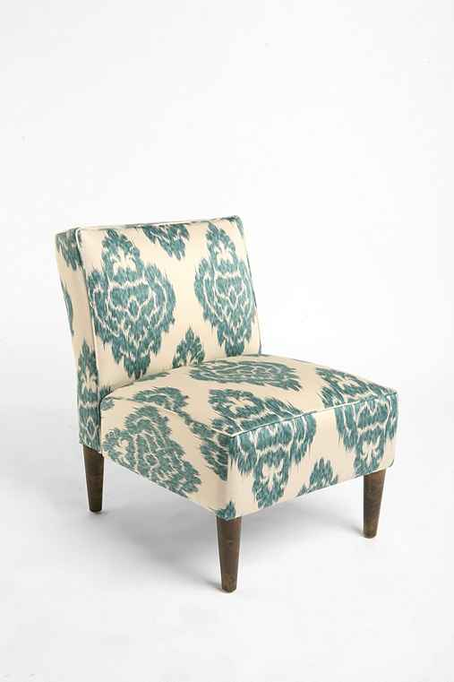 Slipper Chair Turquoise Ikat Urban Outfitters