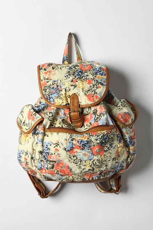 Floral Backpack Purse