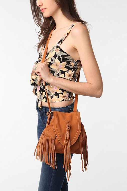 Ecote - Suede Fringe Backpack from urbanoutfitters.com