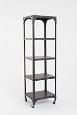 Flatiron Rolling Bookshelf