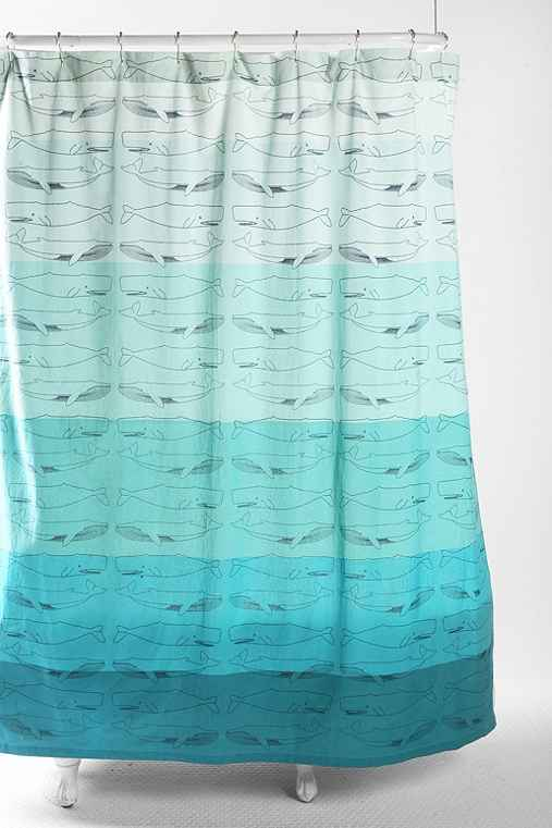 Whales Shower Curtain - Urban Outfitters