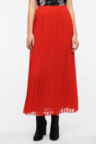 Sparkle & Fade Pleated Chiffon Maxi Skirt
