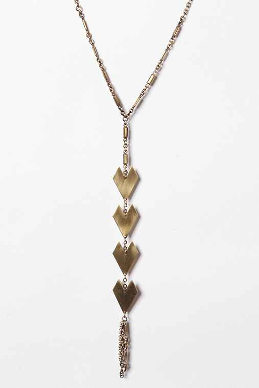 Y-Neck Geometric Necklace