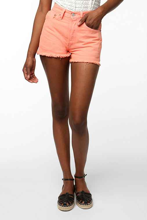 Urban Renewal Levi's Jean Short Short - Orange
