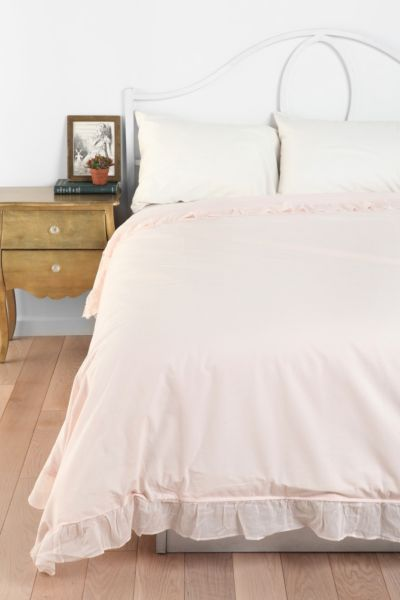 Solid Edge Ruffle Duvet Cover