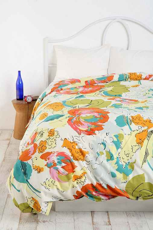 Floral Watercolor Duvet Cover