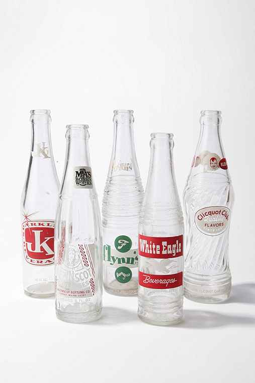Vintage Soda Bottle - Set of 5