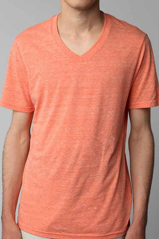 BDG Regular Fit Triblend V-Neck Tee
