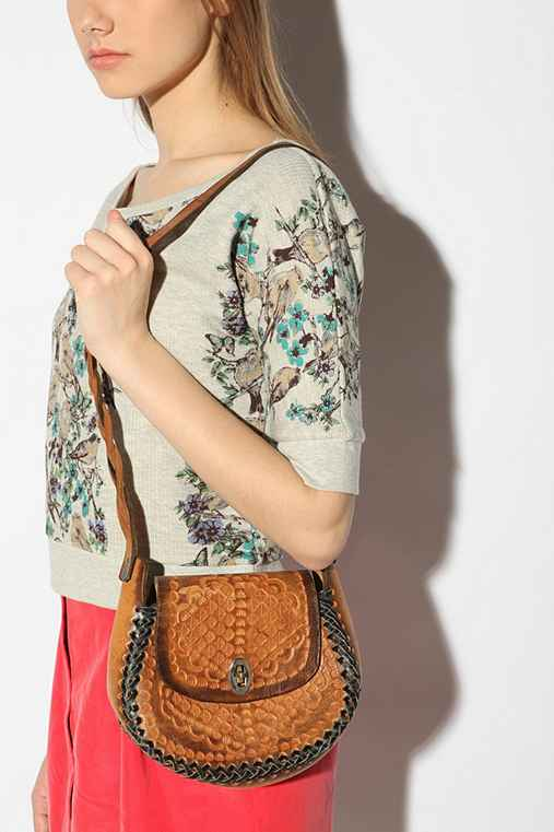 Urban Outfitters - Vintage '70s Hand-Tooled Stitched Bag :  leather bag bag acessory accessories