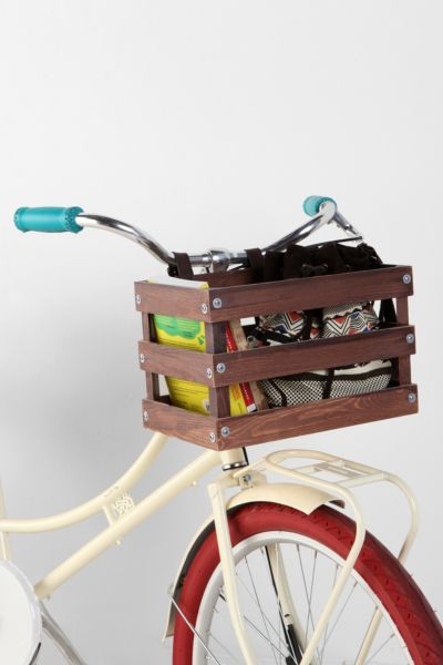 Classic Crate Wood Bike Basket