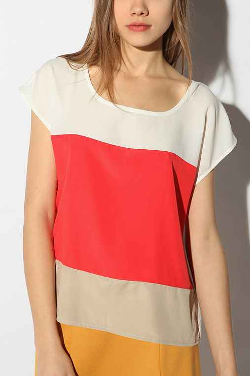 Sparkle & Fade - Colorblock Top :  colorblock urban outiftters womens top top