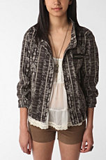 Ecote Ikat Shrunken Military Jacket